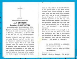 Dp   Broeder    Beckers   Heusden   Bierbeek - Images Religieuses