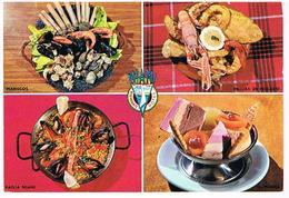 RECETTES  DE CUISINE 4 RECETTES   ESPAGNOL CPM    TBE  RE02 - Ricette Di Cucina