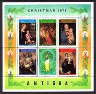 BARBUDA - 1973 CHRISTMAS PAINTINGS RAPHAEL, DAVID, MURILLO ETC MS FINE MNH ** SG MS135 - Barbuda (...-1981)