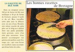 RECETTES  DE CUISINE  RECETTE   LA GALETTE  DE BLE NOIR CPM    TBE  RE03 - Ricette Di Cucina