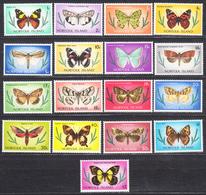 NORFOLK  -  1976 -77  - Papillons  - Yvert 180/196  Neufs ** (L537) - Isla Norfolk