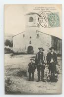TRES RARE CPA 1906 PUY DE DOME ST ANTHEME GROS PLAN ANIME ANCIENNE EGLISE DES PENITENTS TBE - Autres Communes