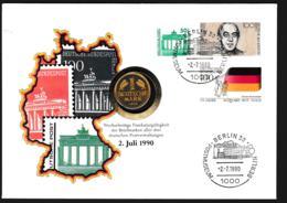 Berlin  Numisbrief 1990 Postmuseum + 1 DM. Weight 50 Gram (G109-65) - Monedas