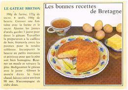 RECETTES  DE CUISINE  RECETTE   GATEAU  BRETON   CPM    TBE  RE04 - Ricette Di Cucina