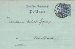 ALLEMAGNE - 1900 - Entier Postal De Mulhausen Pour Mulhouse - Covers & Documents