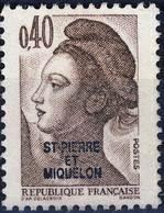 459 LIBERTE De GANDON 0,40 Marron  OBLITERE Année  1986 - St.Pierre & Miquelon
