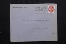 ALLEMAGNE - Enveloppe Commerciale De Mainz En 1927 Pour Kreuznach, Affranchissement Plaisant -  L 62000 - Storia Postale