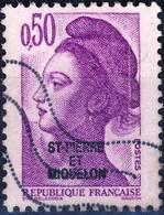 460  LIBERTE De GANDON 0,50 Violet   OBLITERE Année  1986 - St.Pierre & Miquelon
