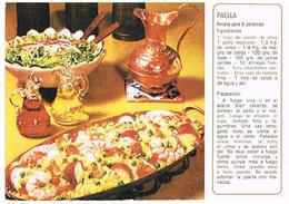 RECETTES  DE CUISINE  RECETTE   PAELLA  CPM    TBE  RE05 - Ricette Di Cucina