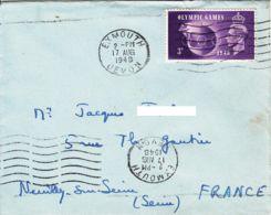 GRANDE BRETAGNE - 1948 -  Lettre Pour La France - JO - Summer 1948: London