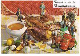 RECETTES  DE CUISINE  RECETTE   DE LA BOUILLABAISSE CPM    TBE  RE09 - Ricette Di Cucina