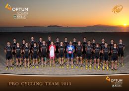 CARTE CYCLISME GROUPE TEAM OPTUM KELLY 2013 - Cyclisme