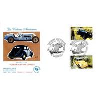 FDC JF - Voitures Anciennes. Bugatti 35 Et Volkwagen Coccinelle - 5/5/2000 Mulhouse - FDC