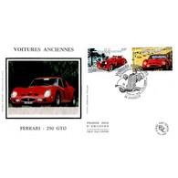 FDC Soie - Voitures Anciennes. Ferrari 250 GTO Et Hispano Suiza K6 - 5/5/2000 Annecy - FDC
