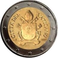 Vatikaanstad 2017   2 Euro  Met De Nieuwe Afbeelding UNC Uit De BU !!!!   Zeldzaam !!! Leverbaar - Livrable !! - Vatican