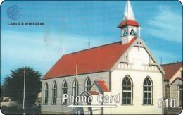 Falkland Phonecard Church Kirche - Falkland