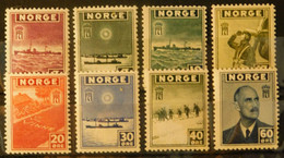 Norwegen/Norge 1943 Exilreg.London Postfrisch ** MNH NK 331-338 Sc 259-66 - Ungebraucht