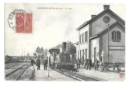 51 - BARBONNE - FAYEL : LA GARE .TRAIN SUPERBE PLAN . - Other Municipalities