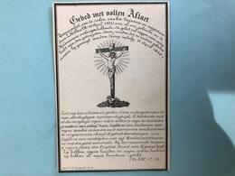 Juffrouw Anna Vandemaele Wed Carpentier P. & Delaere , Burgemeester Meulebeke *1793 Tielt +1846 Meulebeke Litho Gand - Décès