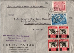 ! 1939 Airmail Letter From Medellin Colombia, Klagenfurt, Censure, Censor, Kolumbien Zensur Devisenüberwachung Innsbruck - Colombia