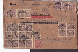 WertBrief Deutsches Reich Dienstmarken Stempel Hebertsfelden , Siegel Postamt Hebertsfelden 1922 - Covers & Documents