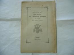 APPELLO ALLA CARITà DEI DIOCESANI MILANESI PER L'OPERA DIVINO CULTO MILANO 1900 - Religion