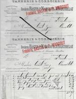 87 - Haute-vienne - LIMOGES - Facture BASTIN, MARGOUT & BARTHELAT - Tannerie, Corroierie - 1912 - REF 292 - 1900 – 1949