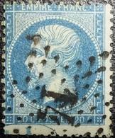N°22. Rare. Variétés (Bord De Feuille Avec Cachet De Visa). Oblitéré étoile De Paris N°14. Superbe... - 1862 Napoléon III