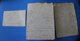 1875 ECOLE DE MONIEUX VAUCLUSE 84 Manuscrit  Trouvé Dans-Cahier D'école De Cécile De Bernardi - Manuscripts