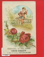Châtillon Sur Seine Côte-d'Or Chaussures Magasin  Ebus Graeff  1, Rue Du Bourg Superbe Chromo Relief  Rose Enfant Luth - Chromos