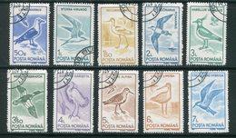 ROUMANIE- Y&T N°3921 à 3930- Oblitérés (oiseaux) - 1948-.... Republieken