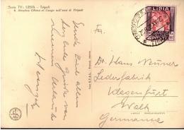 ! 1939 Postcard From Tripolis, Lybien, Libia To Klagenfurt, Austria - Libya