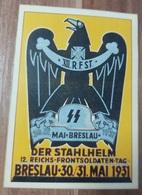 WW2 GERMAN THIRD REICH POSTCARD POSTED - 1939-45