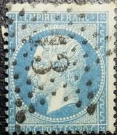 N°22. Variétés (Poils Sous Le Menton). Oblitéré étoile De Paris N°13. Superbe... - 1862 Napoléon III