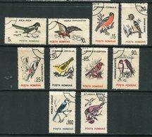 ROUMANIE- Y&T N°4065 à 4074- Oblitérés (oiseaux) - 1948-.... Republieken