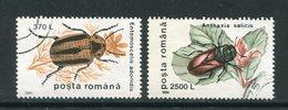 ROUMANIE- Y&T N°4330 Et 4333- Oblitérés (insectes) - 1948-.... Republieken