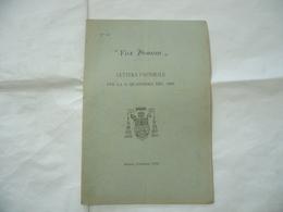 LETTERA PASTORALE VOX DOMINI QUARESIMA MILANO 1909. - Religion
