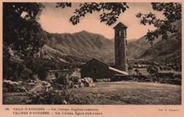 CPA - VALLEES D'ANDORRE - Sta COLOMA - Eglise Style Roman - Edition V.Claverol / N°106 - Andorra