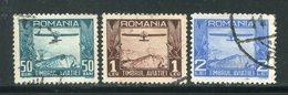 ROUMANIE- P.A Y&T N°11 à 13- Oblitérés - Luchtpostzegels