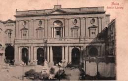 CPA - MALTE - PUBLIC LIBRARY ... - Malta