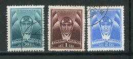 ROUMANIE- P.A Y&T N°19 à 21- Oblitérés - Luchtpostzegels