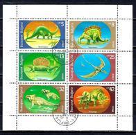 BULGARIE ANIMAUX PREHISTORIQUES 1988 (28F) N° Yvert 3314 à 3319 Oblitérés Used - Bulgarije