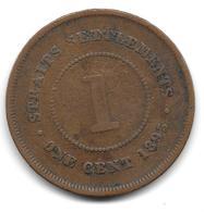 Straits Settlements, 1 Cent 1895 (1206) - Malaysia