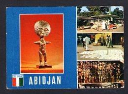 Côte D'Ivoire - ABIDJAN - 6751 - Artisanat Sur Le Plateau  - Multi Vues - ( Agence Ivoirienne Hachette) Postée En 1980 - Côte-d'Ivoire