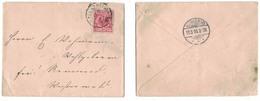 IB142   Deutsches Reich 1895 Brief Alerheim To Rennerod - Cartas