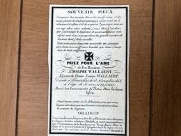 Adolphe Wallaert époux Louise Wallaert *1818 Brugge +1848 Bruxelles Fille Léo Et Louise Beague Litho D'opter à Paris - Décès
