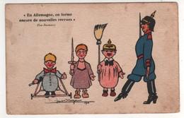 Satyrique : En Allemagne On Forme Encore De Nouvelles Recrues ( Les Journaux ) , Non écrite - Guerre 1914-18