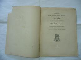 ENCICLICA SANTISSIMO LEONE DIVINA PROVVIDENZA PAPA XIII 1891 COPERTINA ROVINATA - Religion
