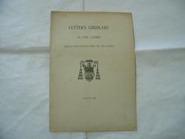 LETTERA CIRCOLARE AL VENERANDO CLERO ARCHIDIOCESI DI MILANO 1903. - Religion