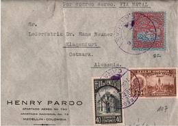 ! Airmail Letter From Caracas Venezuela To Klagenfurt Via Wien, Austria - Venezuela